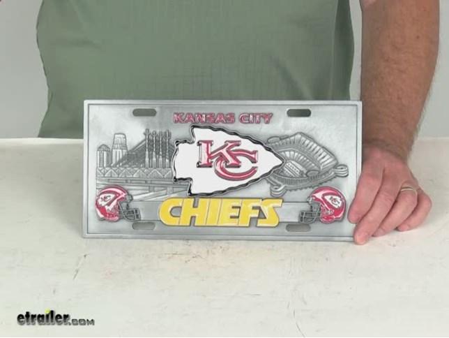 Kansas City Chiefs Nfl Sport Plate 3d License Plate
