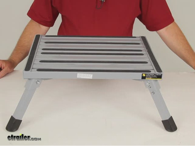 Adjustable Height Folding Aluminum Platform Step With Non