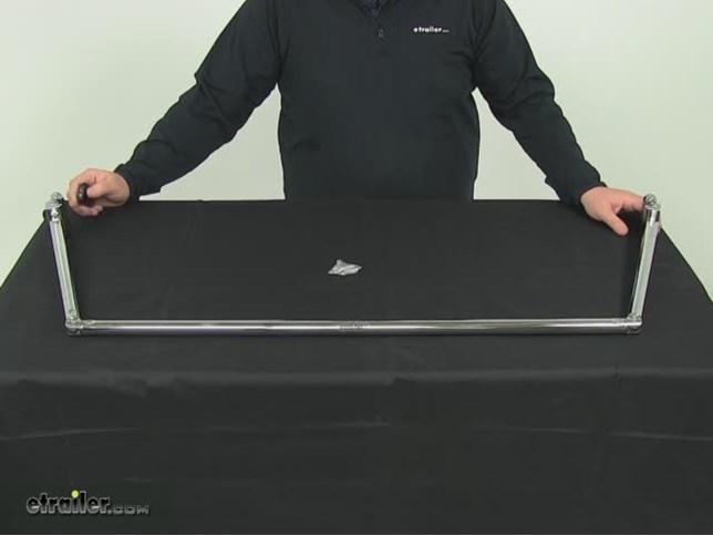 "... Curtain Rod for RVs - 54"" to 60"" - Chrome Stromberg Carlson RV Showers"