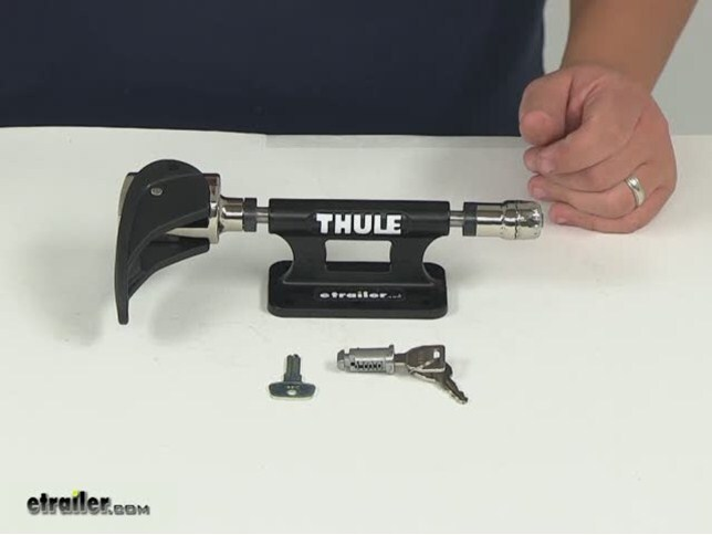 Thule Low Rider Bike Block With Locking Skewer Fork