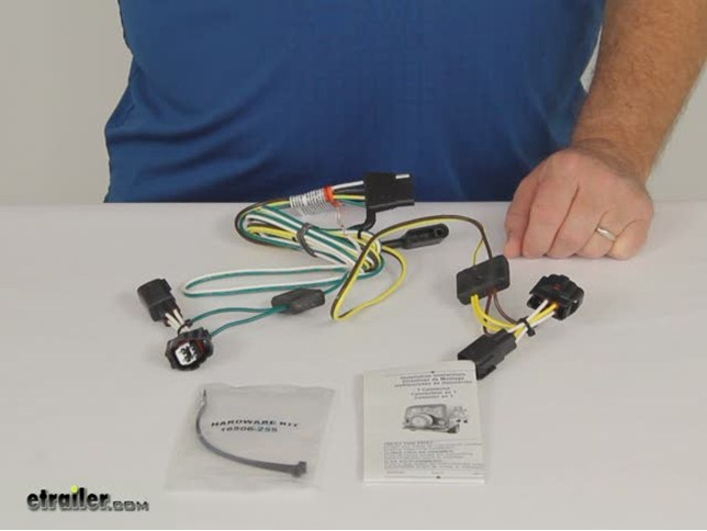 2001 jeep wrangler t-one vehicle wiring harness with 4 ... 2001 jeep wrangler trailer wiring #7
