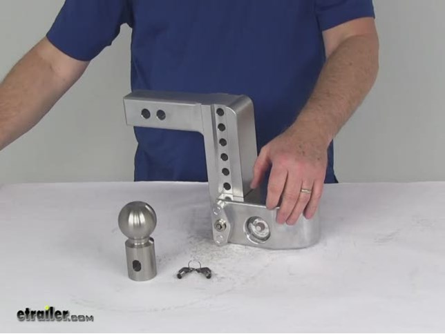 Weigh Safe WS6-2.5 Adjustable Ball Mount with 6 Drop and 2.5 Shank