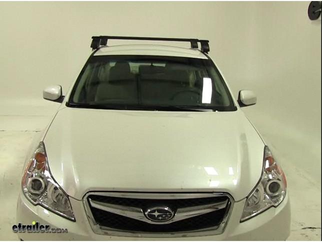 Thule Traverse Roof Rack Installation   2011 Subaru Legacy Review Video |  Etrailer.com