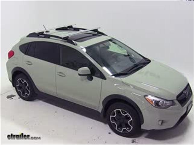 Subaru Roof Rack How To Use >> Best 2015 Subaru Xv Crosstrek Roof Rack Options Video Etrailer Com