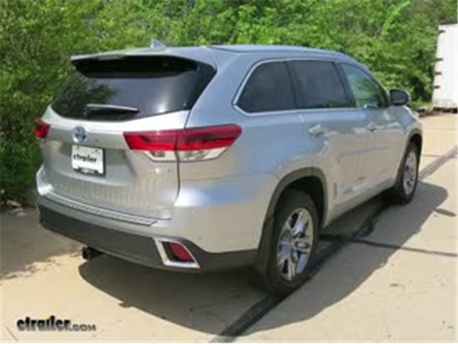 Best 2018 Toyota Highlander Trailer Hitch Receiver Options Video Etrailer