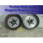 Trailer Hub Brake Magnet Replacement Demonstration