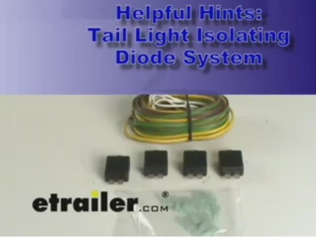 tail light isolating diode system demonstration video etrailer com