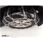 Glacier Twist Link Snow Tire Chains Test Course