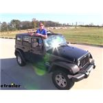 Bestop Jeep Hard Top Sunrider Retractable Cover Installation - 2011 Jeep Wrangler Unlimited