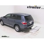 Curt Folding Aluminum Cargo Carrier Review - 2012 Toyota Highlander