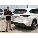 Video install curt trailer hitch 2020 toyota highlander c99fr