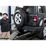 Video install draw tite max frame class 3 trailer hitch receiver 2020 jeep wrangler unlimited 76104