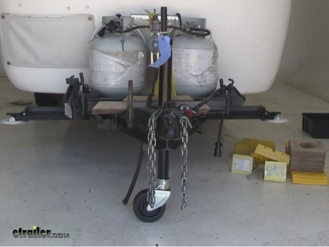 video of removable wheel with pin for a frame trailer jacks by dutton lainson