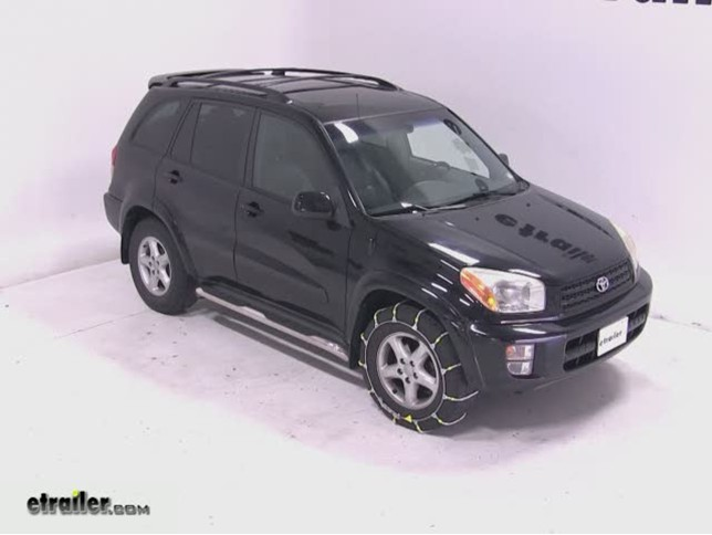 Glacier Cable Snow Tire Chains Review 2003 Toyota Rav4 Video Etrailer