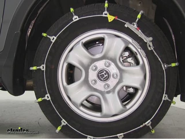 Glacier Cable Snow Tire Chains Review   2012 Honda CR V Video | Etrailer.com