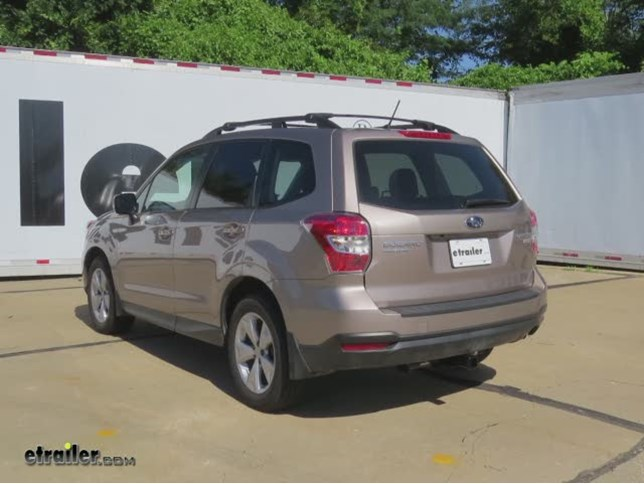 subaru forester tow bar fitting instructions