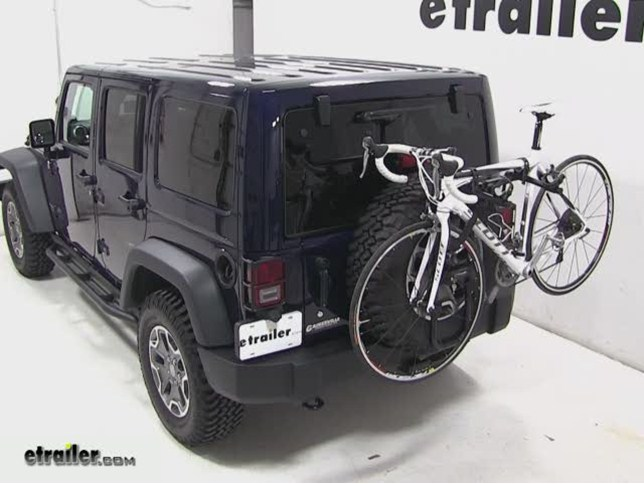 Jeep Wrangler Bike Rack >> Hollywood Racks Sr2 2 Bike Carrier Spare Tire Mount