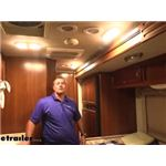 Video install optronics led rv interior dome light 2007 fleetwood bounder motorhome rvill34