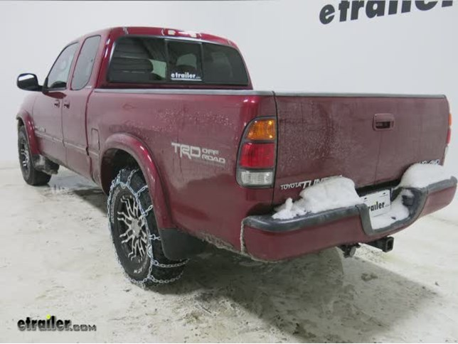 Pewag All Square Snow Tire Chains Review 2002 Toyota Tundra Video