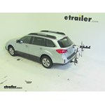 Pro Series Eclipse 4 Hitch Bike Rack Review - 2013 Subaru Outback Wagon
