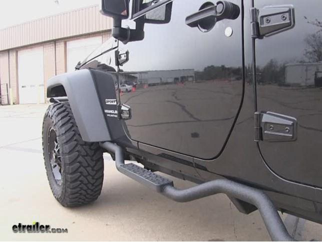 Rampage Slimline Round Bars Installation   2015 Jeep Wrangler Unlimited  Video | Etrailer.com
