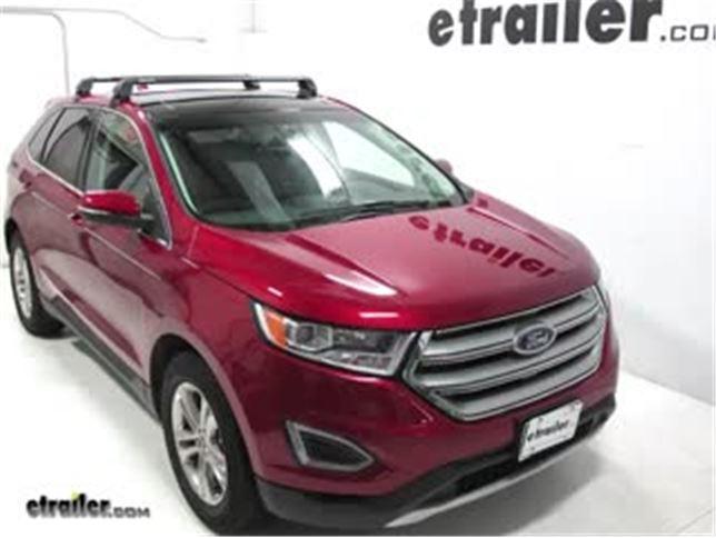 Rhino Rack Rs  Roof Rack Installation  Ford Edge Video Etrailer Com