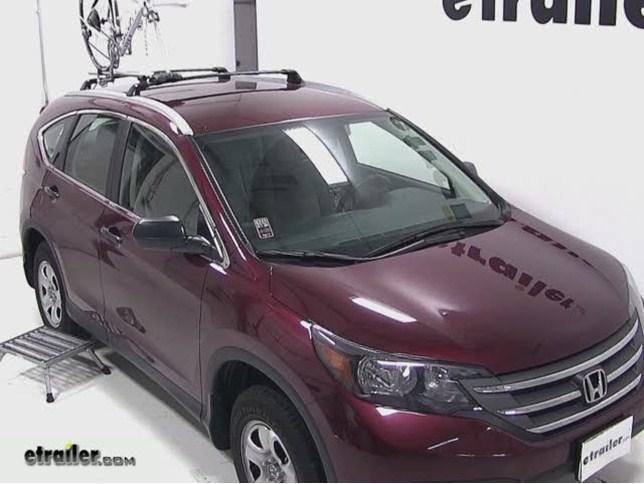 RockyMounts TieRod Roof Bike Rack Review   2013 Honda CR V Video |  Etrailer.com