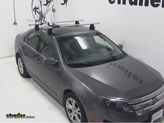 Today On Our 2017 Ford Fusion Well Be Test Ing Rockymounts Tierod Stretch Roof Mounted Bike Carrier Part Number Rky1011 With A Thule Aeroblade