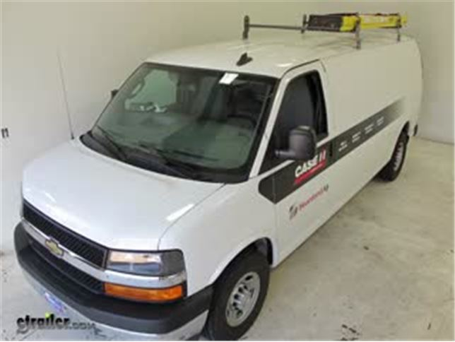 rola van ladder rack review chevrolet express van video etrailercom