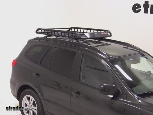 Rola Roof Cargo Basket Installation   2010 Hyundai Santa Fe Video |  Etrailer.com