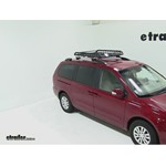 Rola Roof Cargo Basket with AeroBlade Bars Installation - 2012 Kia Sedona