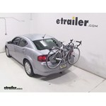 Saris Bones Trunk Mount 3 Bike Rack Review - 2014 Dodge Avenger
