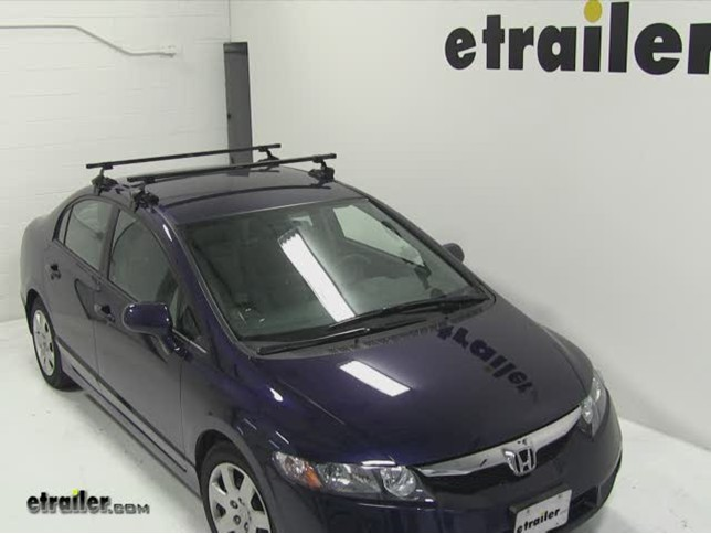 Captivating SportRack Frontier Roof Rack Installation   2011 Honda Civic Video |  Etrailer.com
