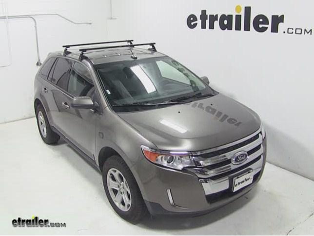 Sportrack Semi Custom Roof Rack Review  Ford Edge Video Etrailer Com
