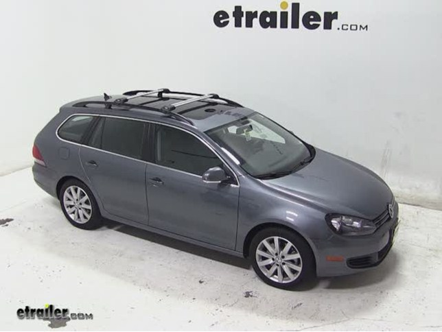 Today On Our 2017 Volkswagen Jetta Sportwagen Well Be Test Ing The Thule Aeroblade Edge Roof Rack System For Raised Factory Side Rails
