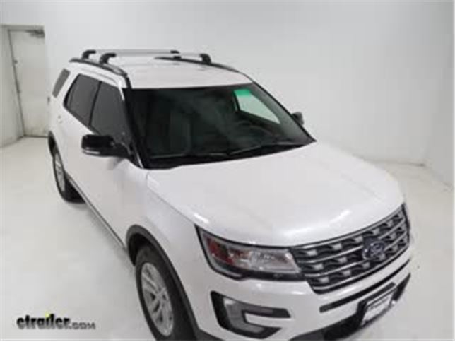 Thule Aeroblade Edge Crossbar Installation 2016 Ford Explorer Video Etrailer