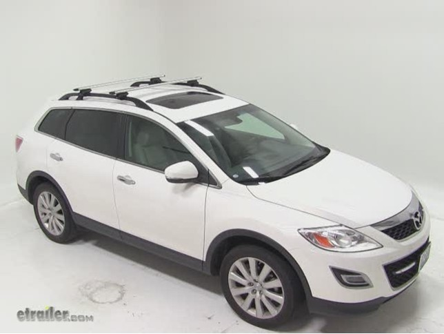 Thule AeroBlade Crossroad Roof Rack Installation   2010 Mazda CX 9 Video |  Etrailer.com