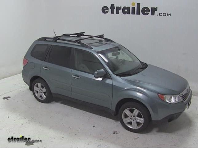 Thule Crossroad Roof Rack Installation   2009 Subaru Forester