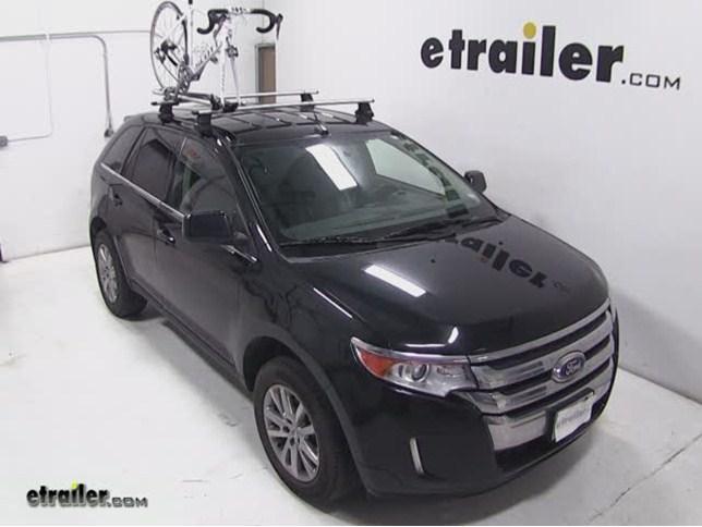 Thule Domestique Roof Bike Rack Review  Ford Edge Video Etrailer Com
