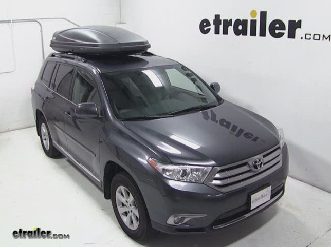 Thule Force XXL Rooftop Cargo Box Review   2012 Toyota Highlander