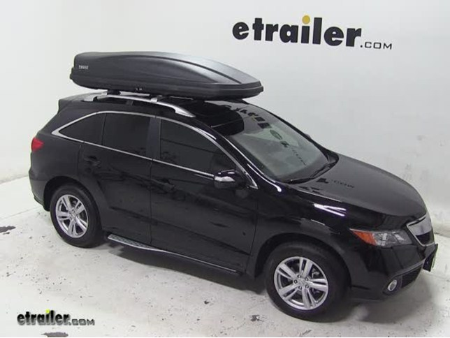 Thule Force XXL Rooftop Cargo Box Review - 2013 Acura RDX & Will Thule Force XXL Roof Box Fit Toyota FJ Cruiser With Factory ...