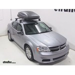 Thule Force Medium Rooftop Cargo Box Review - 2014 Dodge Avenger