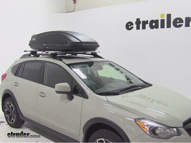 Thule Force Medium Rooftop Cargo Box Review 2014 Subaru Xv Crosstrek Video Etrailer Com