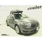 Thule Force XXL Rooftop Cargo Box Review - 2014 Ford Taurus