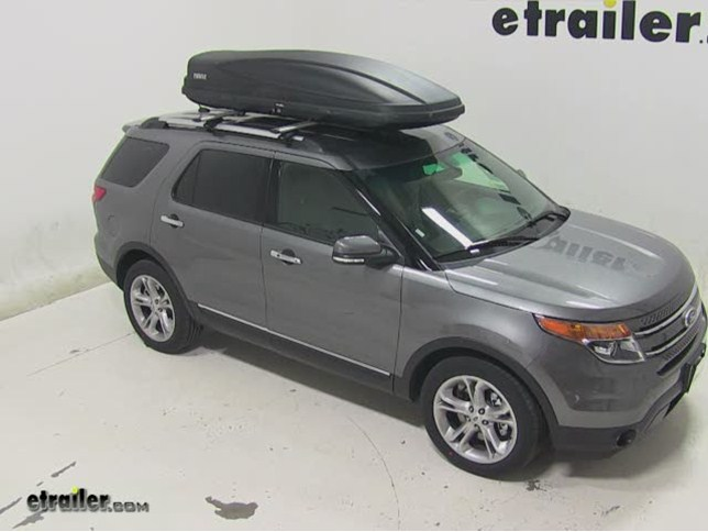 Thule Force Xl >> Thule Force Xxl Rooftop Cargo Box Review 2014 Ford Explorer