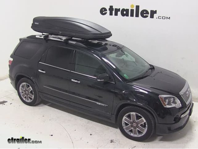 Thule Force XXL Rooftop Cargo Box Review   2012 GMC Acadia