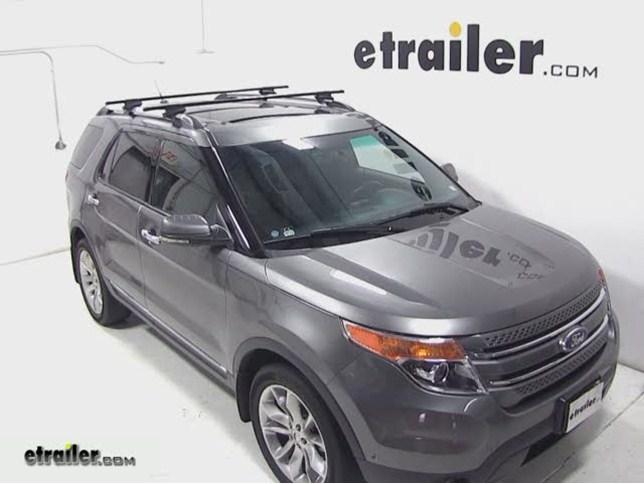 Thule Roof Rack For Ford Explorer 2011 Etrailer Com