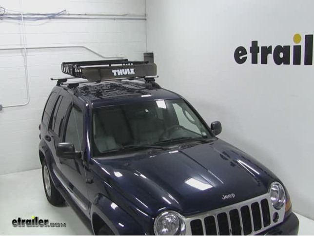 Thule MOAB Roof Top Cargo Basket Review   2006 Jeep Liberty Video |  Etrailer.com