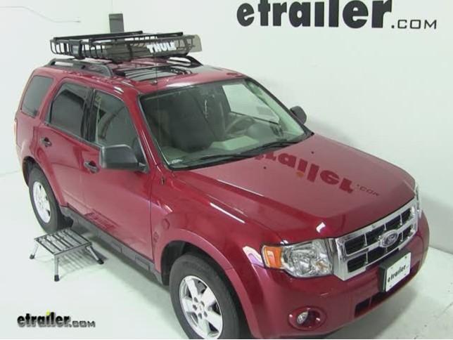 Thule MOAB Roof Top Cargo Basket Review   2009 Ford Escape Video |  Etrailer.com