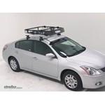 Thule MOAB Roof Top Cargo Basket Review   2011 Nissan Altima Video |  Etrailer.com